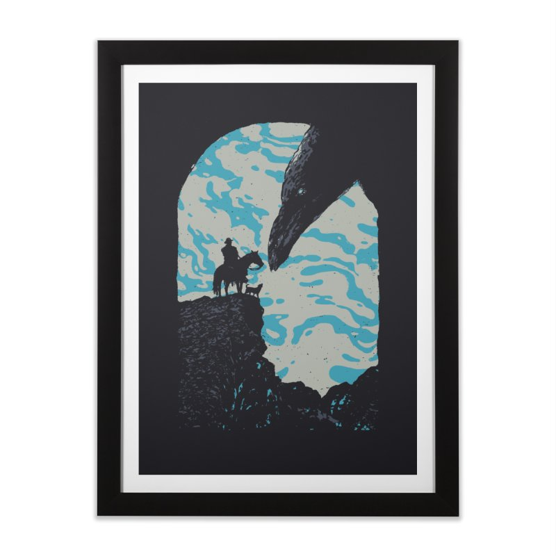The Black Bird Home Framed Fine Art Print by Robson Borges
