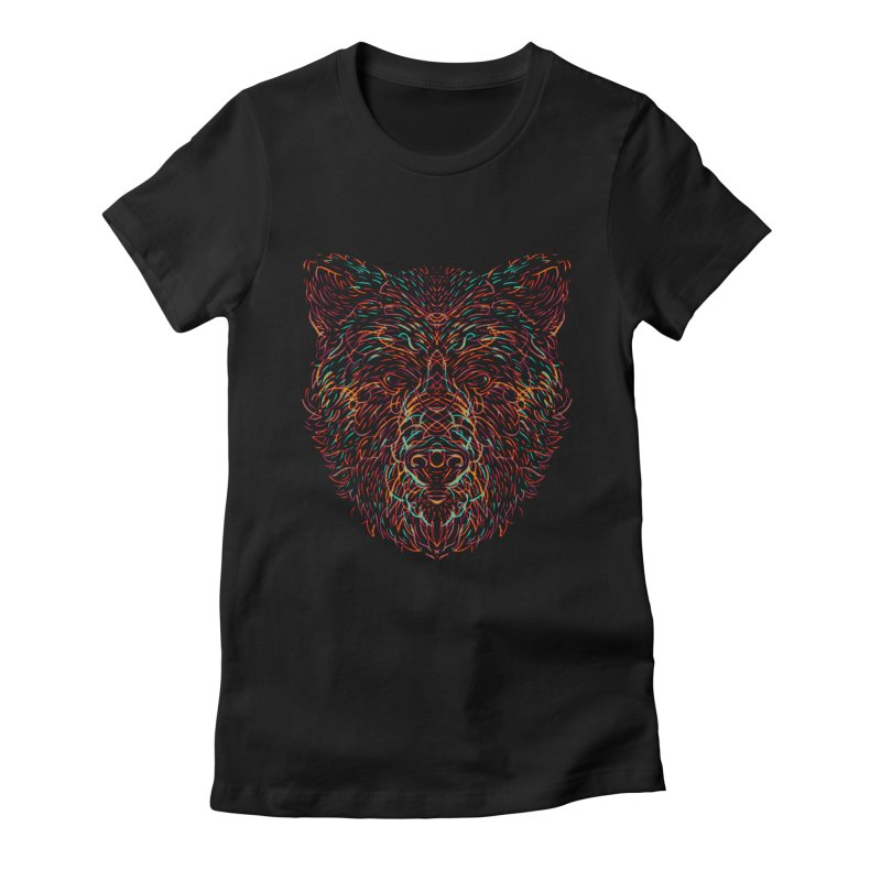 Bear For Bears Women's Fitted T-Shirt by Robson Borges