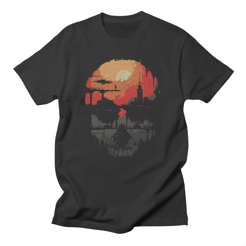 Echoes  in Men's Regular T-Shirt Smoke by Robson Borges