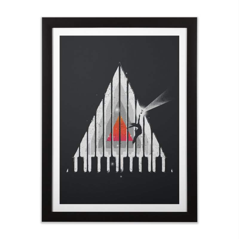 Cosmic Piano Home Framed Fine Art Print by
