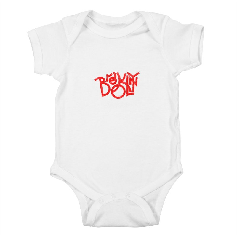 Brooklyn Kids Baby Bodysuit by The Typography Shop of Andrei Robu