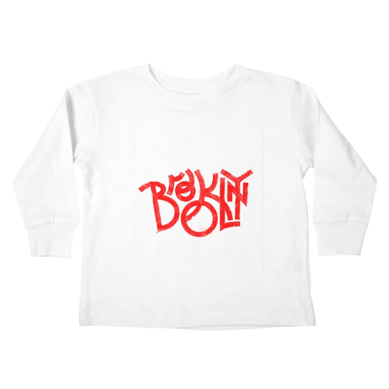 Brooklyn Kids Toddler Longsleeve T-Shirt by The Typography Shop of Andrei Robu