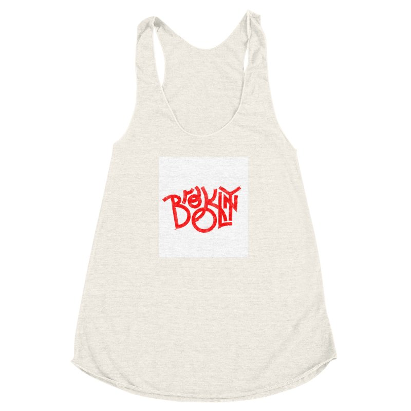 Brooklyn Women's Racerback Triblend Tank by The Typography Shop of Andrei Robu
