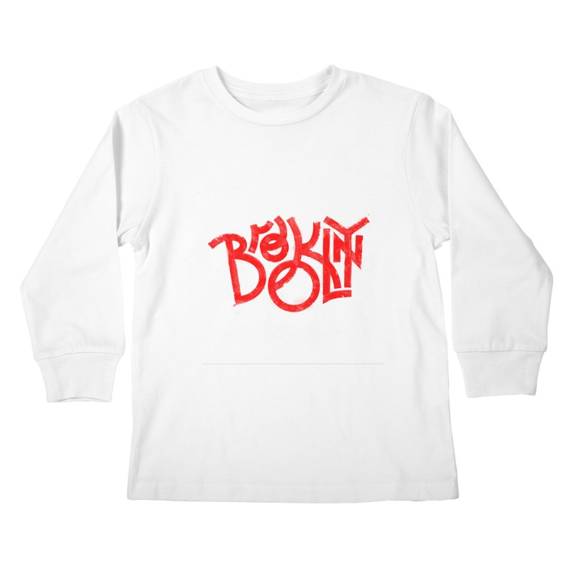 Brooklyn Kids Longsleeve T-Shirt by The Typography Shop of Andrei Robu