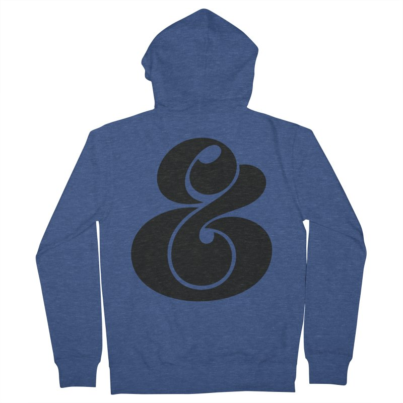 Robu Ampersand Men's Zip-Up Hoody by The Typography Shop of Andrei Robu