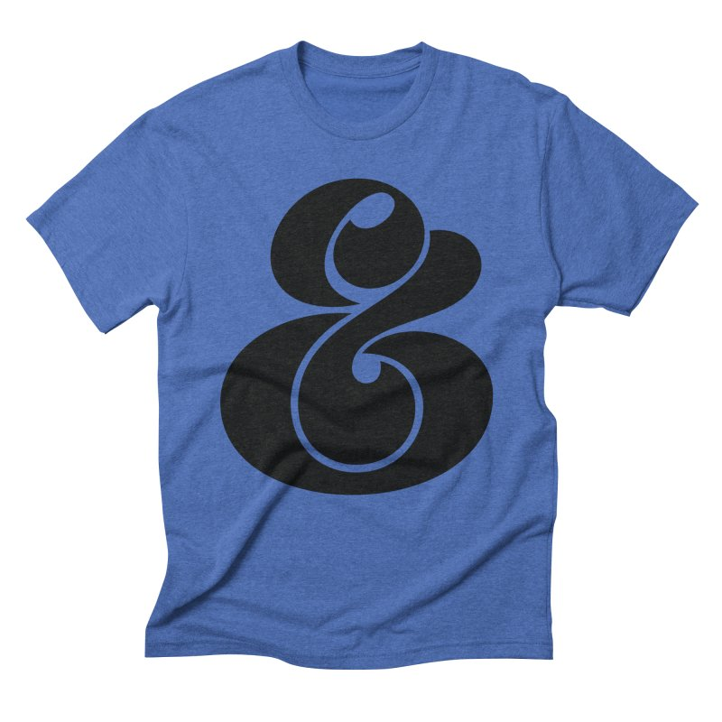 Robu Ampersand Men's Triblend T-Shirt by The Typography Shop of Andrei Robu