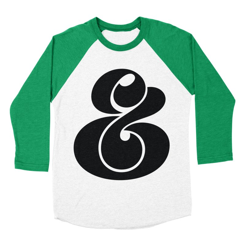 Robu Ampersand Women's Baseball Triblend T-Shirt by The Typography Shop of Andrei Robu