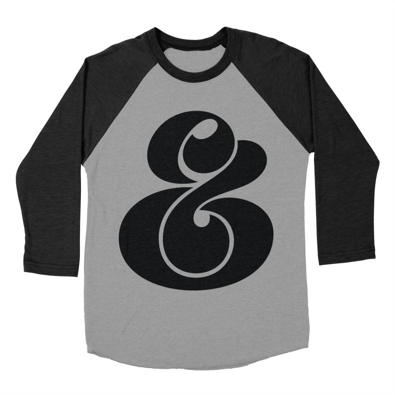 Robu Ampersand Men's Baseball Triblend T-Shirt by The Typography Shop of Andrei Robu