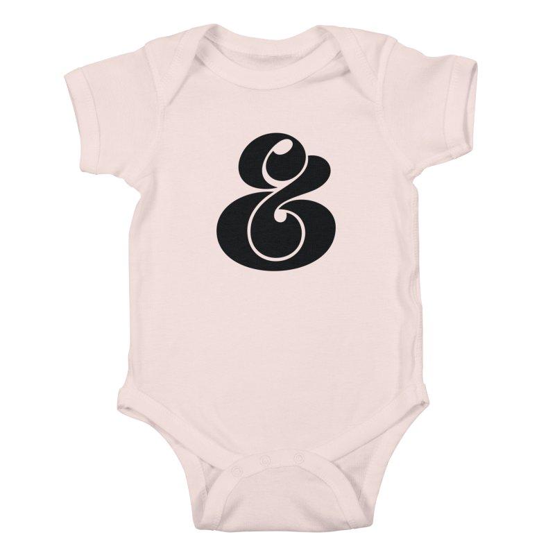 Robu Ampersand Kids Baby Bodysuit by The Typography Shop of Andrei Robu