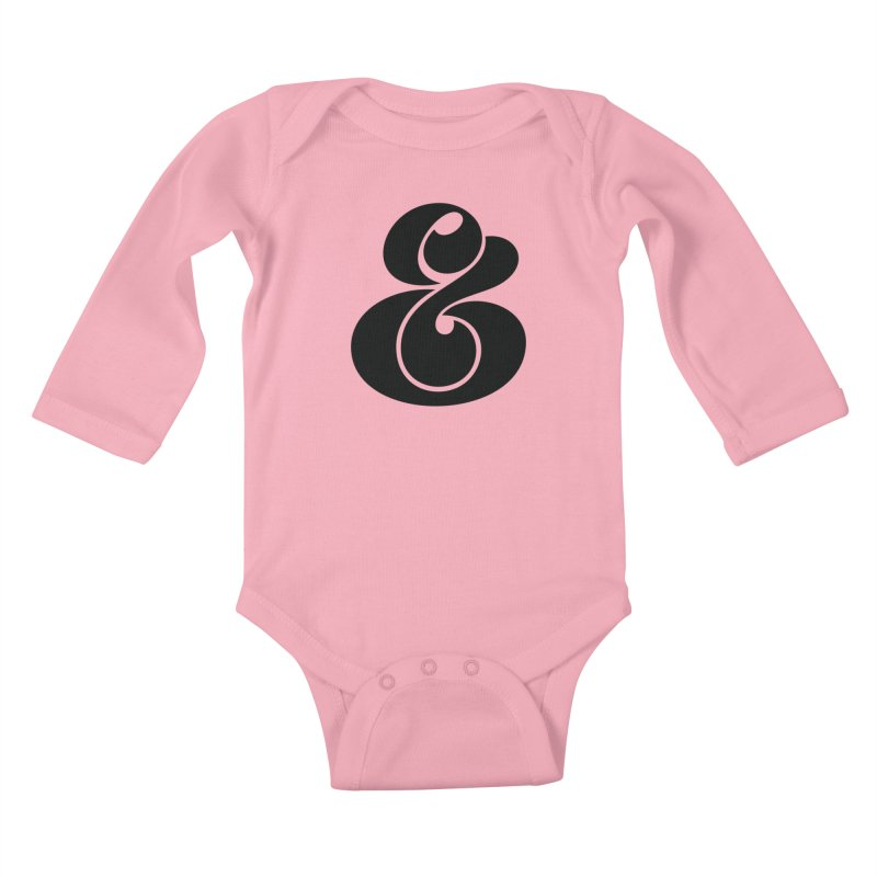 Robu Ampersand Kids Baby Longsleeve Bodysuit by The Typography Shop of Andrei Robu