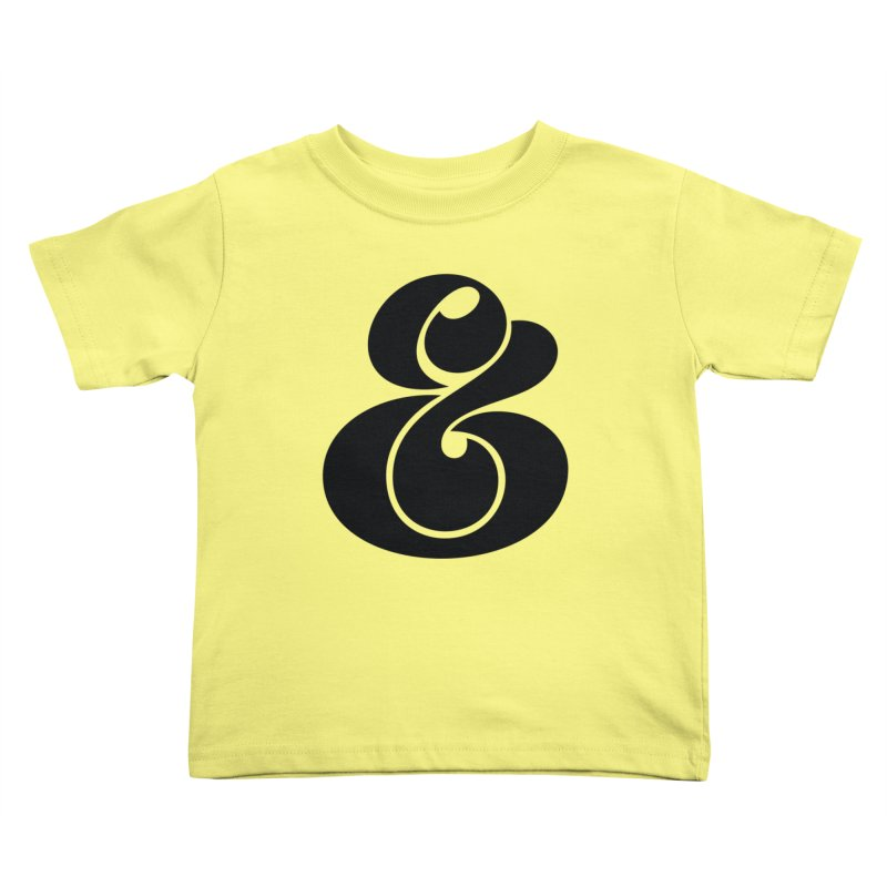 Robu Ampersand Kids Toddler T-Shirt by The Typography Shop of Andrei Robu