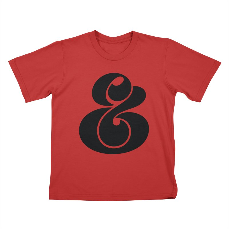 Robu Ampersand Kids T-shirt by The Typography Shop of Andrei Robu
