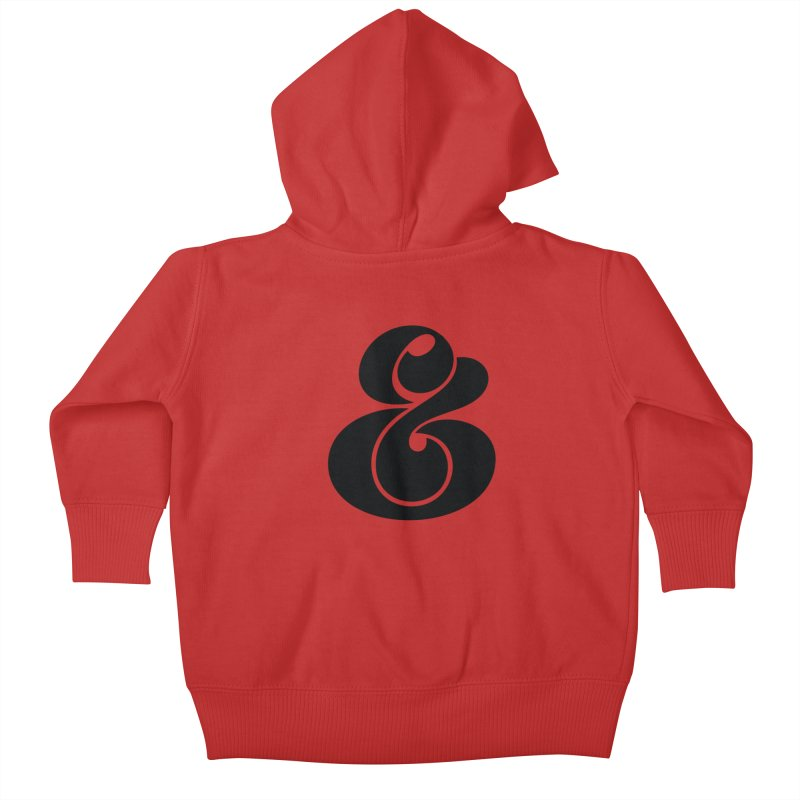 Robu Ampersand Kids Baby Zip-Up Hoody by The Typography Shop of Andrei Robu