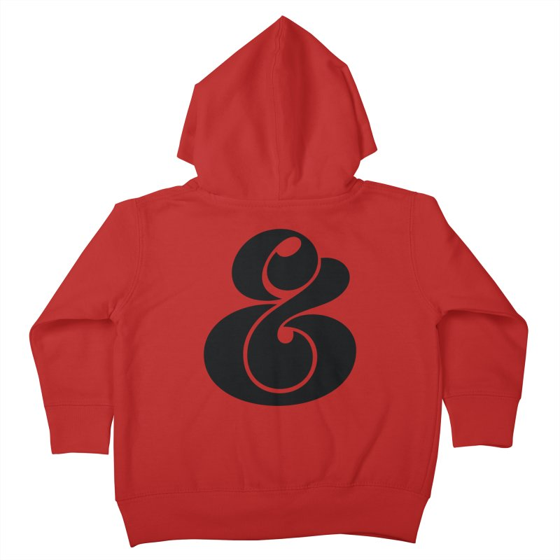 Robu Ampersand Kids Toddler Zip-Up Hoody by The Typography Shop of Andrei Robu