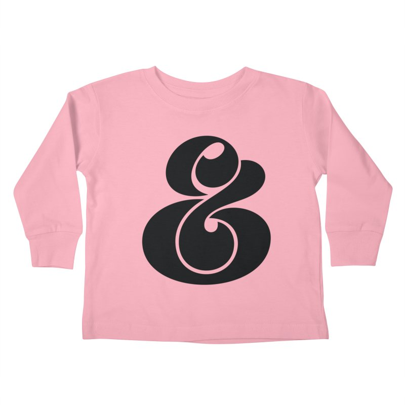 Robu Ampersand Kids Toddler Longsleeve T-Shirt by The Typography Shop of Andrei Robu