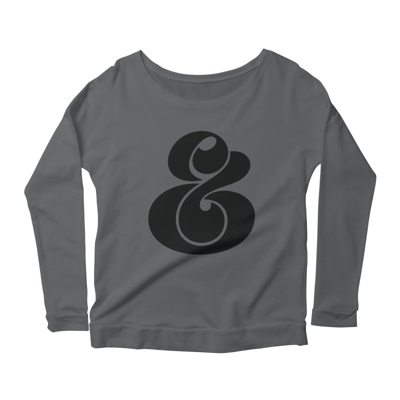 Robu Ampersand Women's Longsleeve Scoopneck  by The Typography Shop of Andrei Robu