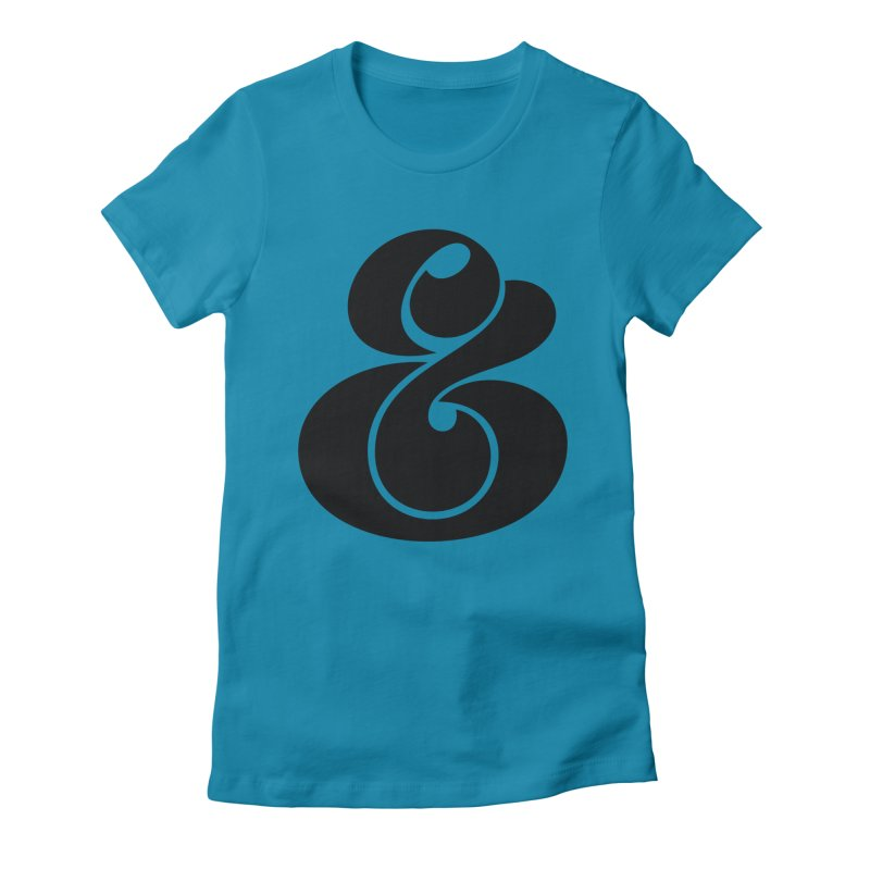Robu Ampersand Women's Fitted T-Shirt by The Typography Shop of Andrei Robu