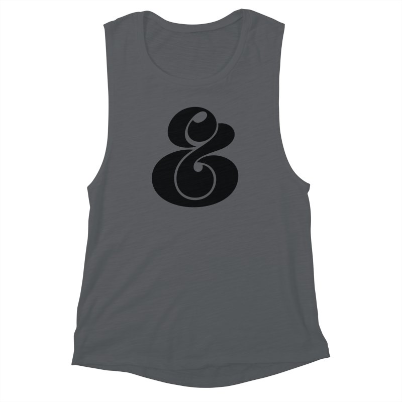 Robu Ampersand Women's Muscle Tank by The Typography Shop of Andrei Robu