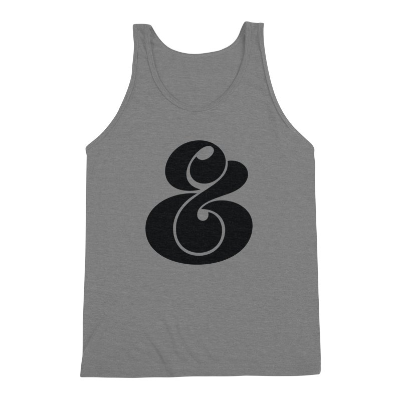 Robu Ampersand Men's Triblend Tank by The Typography Shop of Andrei Robu