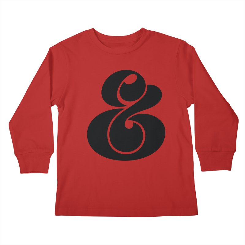 Robu Ampersand Kids Longsleeve T-Shirt by The Typography Shop of Andrei Robu