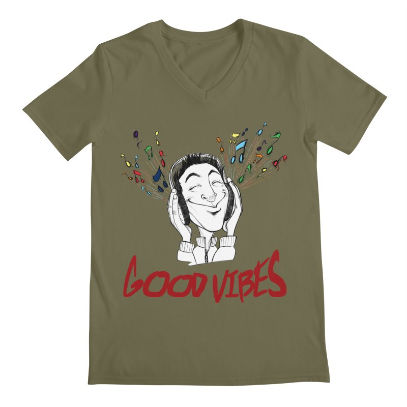 GoodVibes Man Men's V-Neck by roby's Artist Shop
