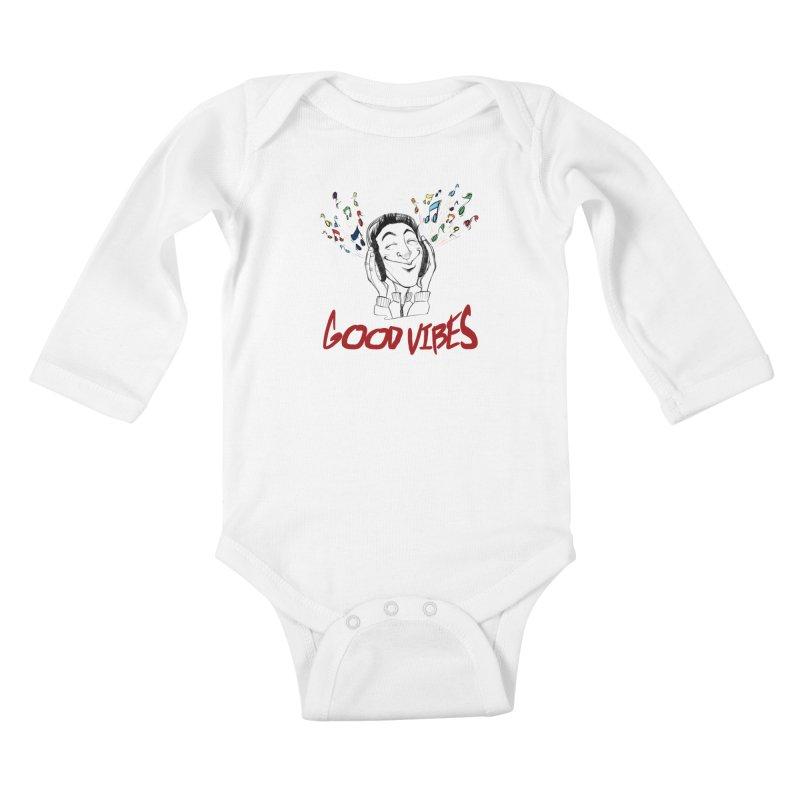 GoodVibes Man Kids Baby Longsleeve Bodysuit by roby's Artist Shop