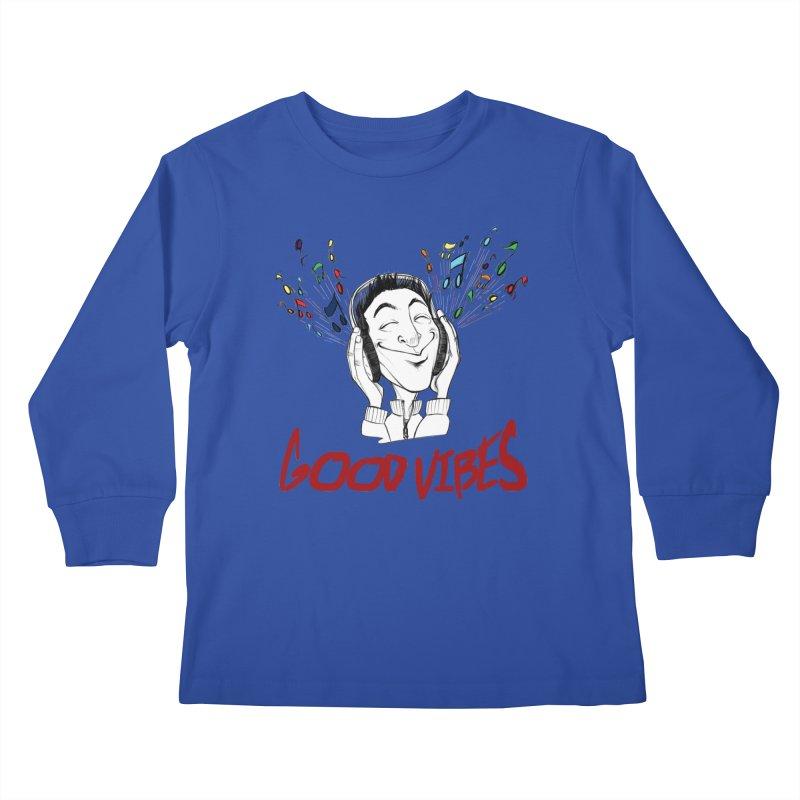 GoodVibes Man Kids Longsleeve T-Shirt by roby's Artist Shop