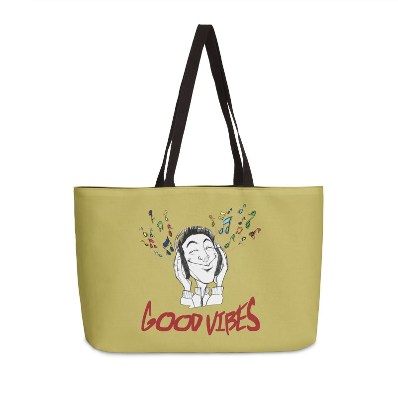 GoodVibes Man Accessories Weekender Bag Bag by roby's Artist Shop