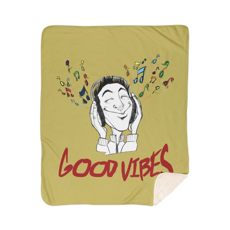 GoodVibes Man Home Sherpa Blanket Blanket by roby's Artist Shop