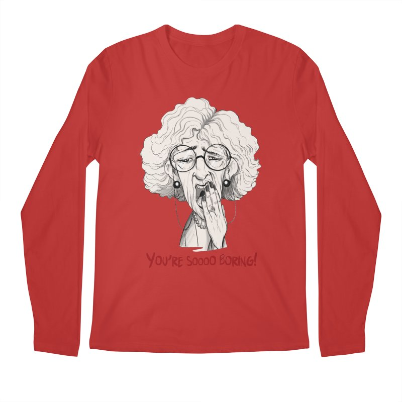 BoredWoman! Men's Regular Longsleeve T-Shirt by roby's Artist Shop