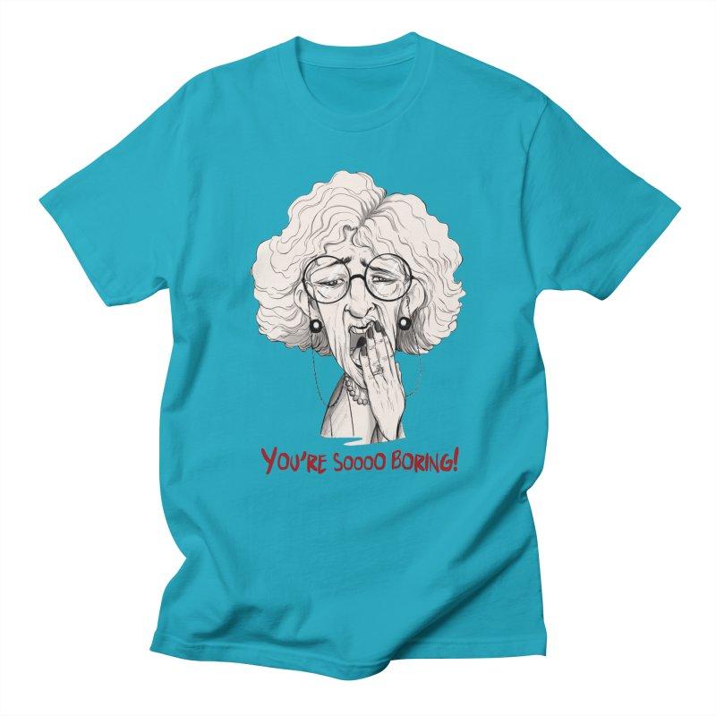 BoredWoman! Men's Regular T-Shirt by roby's Artist Shop