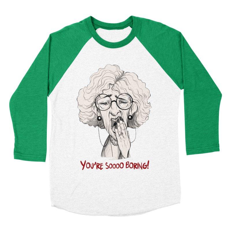 BoredWoman! Women's Baseball Triblend T-Shirt by roby's Artist Shop