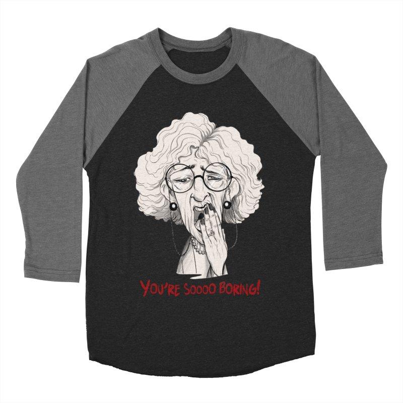 BoredWoman! Women's Baseball Triblend Longsleeve T-Shirt by roby's Artist Shop