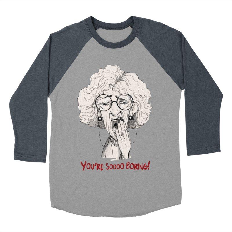 BoredWoman! Men's Baseball Triblend T-Shirt by roby's Artist Shop