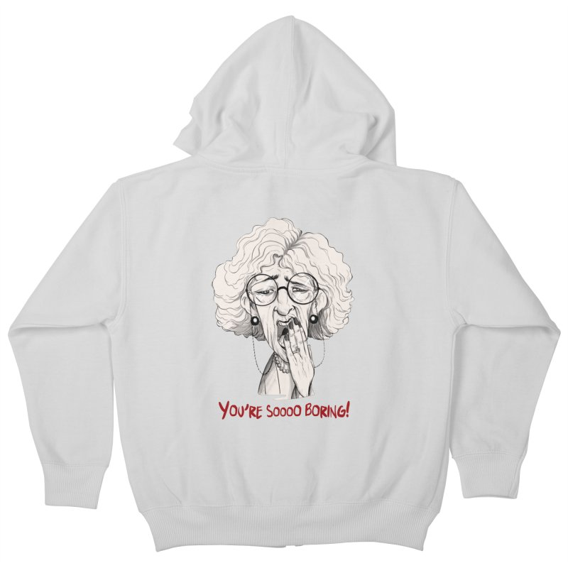 BoredWoman! Kids Zip-Up Hoody by roby's Artist Shop