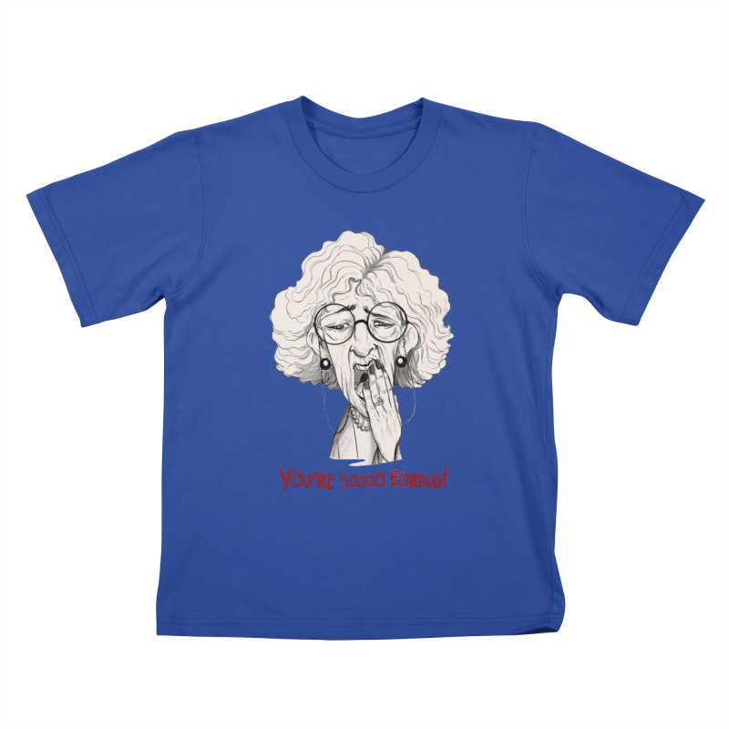BoredWoman! Kids T-Shirt by roby's Artist Shop