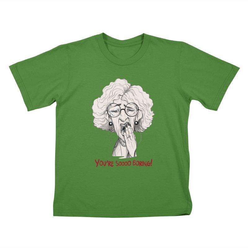 BoredWoman! Kids T-shirt by roby's Artist Shop