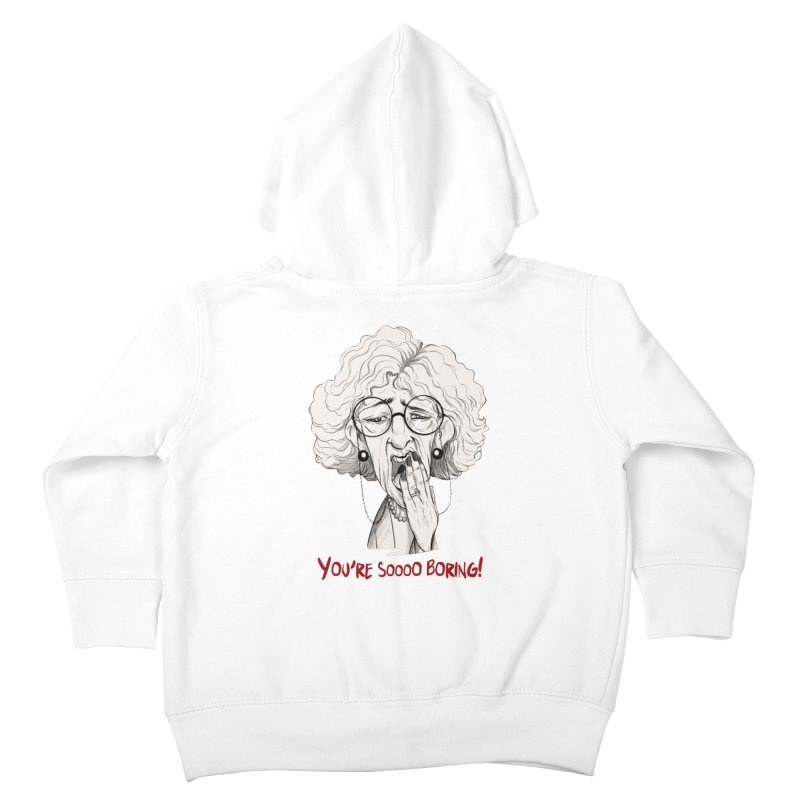 BoredWoman! Kids Toddler Zip-Up Hoody by roby's Artist Shop