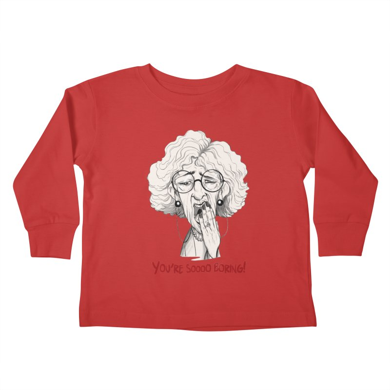 BoredWoman! Kids Toddler Longsleeve T-Shirt by roby's Artist Shop