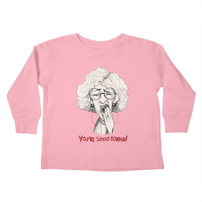 BoredWoman! Kids Toddler Longsleeve T-Shirt by roby's Artist Shop