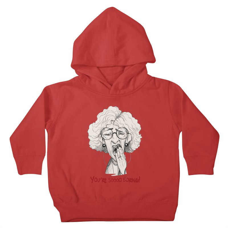 BoredWoman! Kids Toddler Pullover Hoody by roby's Artist Shop
