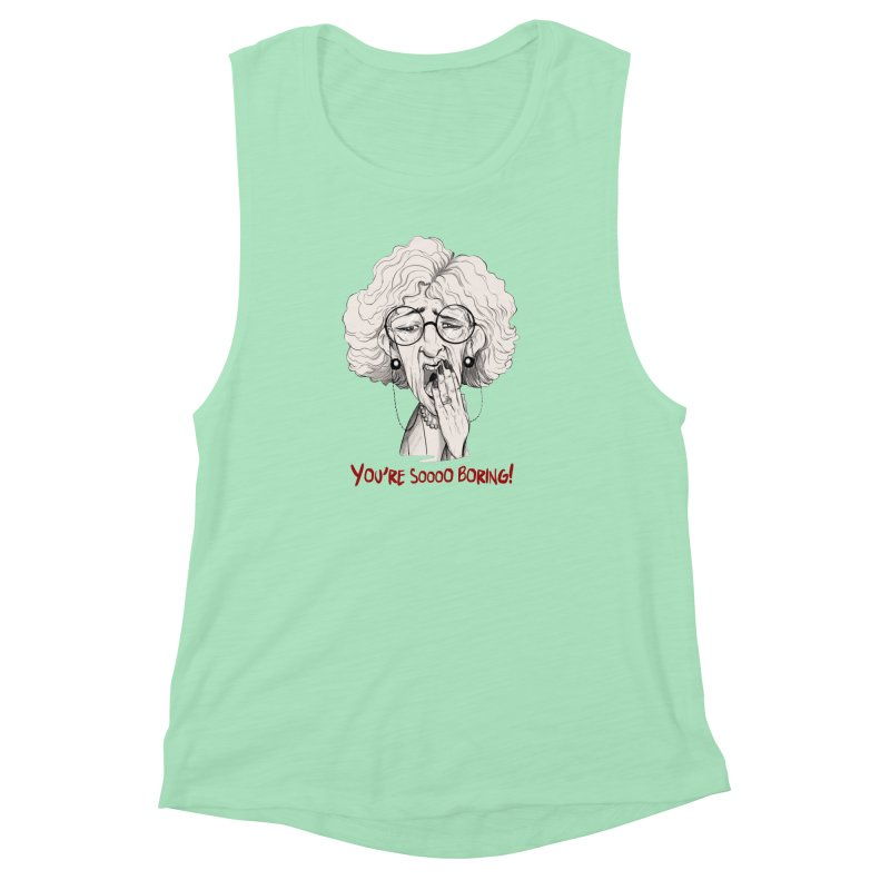 BoredWoman! Women's Muscle Tank by roby's Artist Shop