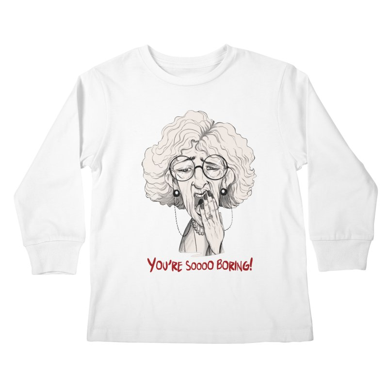 BoredWoman! Kids Longsleeve T-Shirt by roby's Artist Shop