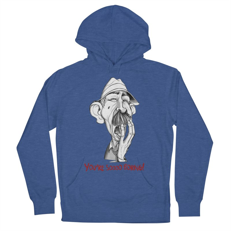 Bored Man Women's French Terry Pullover Hoody by roby's Artist Shop