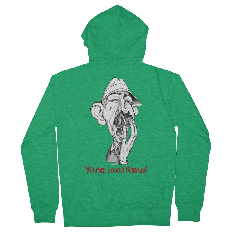 Bored Man Women's Zip-Up Hoody by roby's Artist Shop