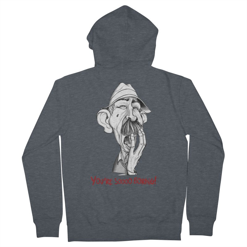 Bored Man Men's Zip-Up Hoody by roby's Artist Shop