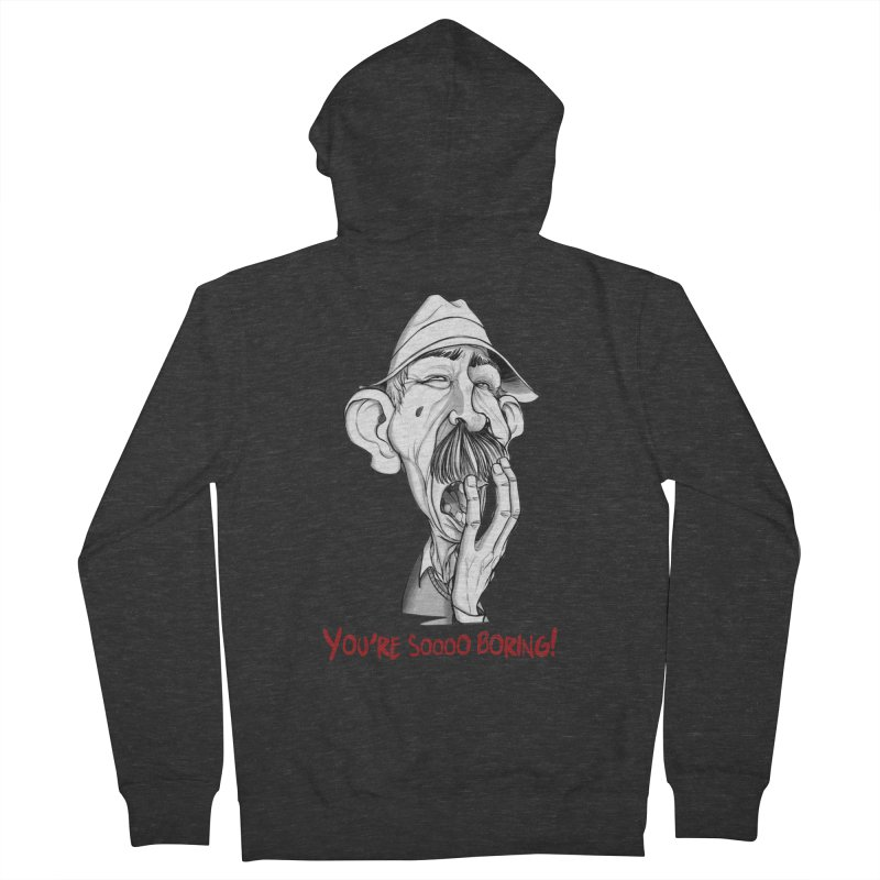 Bored Man Men's French Terry Zip-Up Hoody by roby's Artist Shop