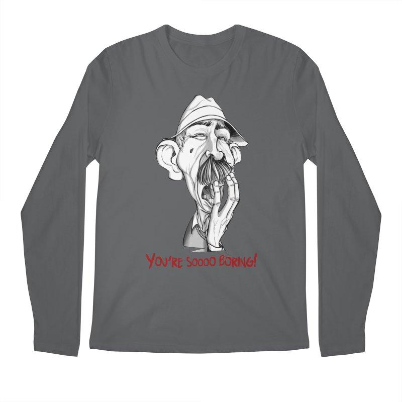 Bored Man Men's Regular Longsleeve T-Shirt by roby's Artist Shop