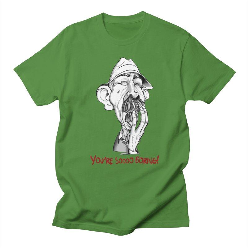 Bored Man Women's Regular Unisex T-Shirt by roby's Artist Shop