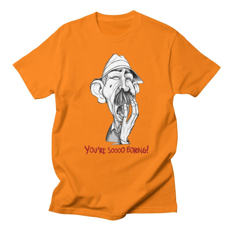 Bored Man Men's Regular T-Shirt by roby's Artist Shop